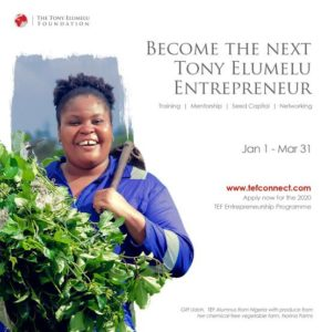 THE 7TH EDITION OF THE TONY ELUMELU FOUNDATION ENTREPRENEURSHIP PROGRAMME (2021